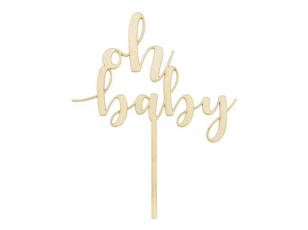 Cake Topper Oh Baby 13,5 x 17 cm