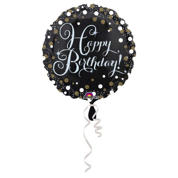 Sparkling Birthday Folienballon 43 cm