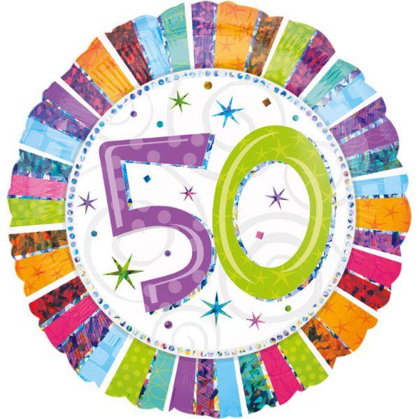 Radiant Birthday 50 Folienballon 43 cm