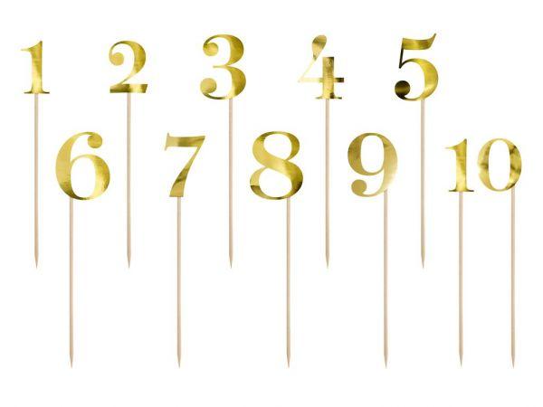 Cake Topper Zahlen gold 25,5 - 26,5 cm