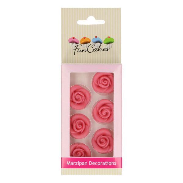 Marzipanrosen rosa 6 Stk.