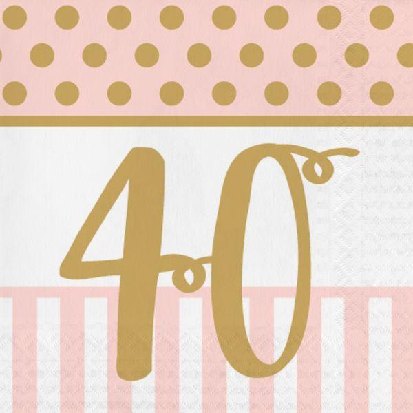 Pink Chic Servietten 40