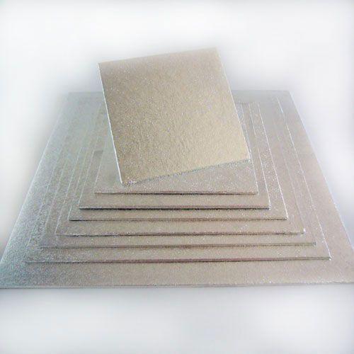 Cake Board-Silber-Quadratisch 10 X 10 cm