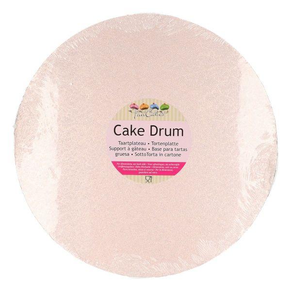 Cake Drum Rose Gold-Rund 25 cm
