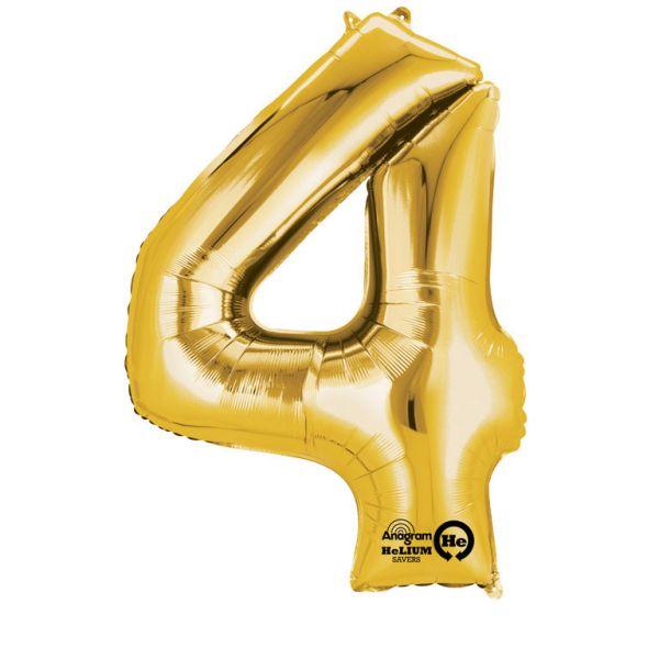 Zahl Gold - 4 Folienballon 66 X 88 cm