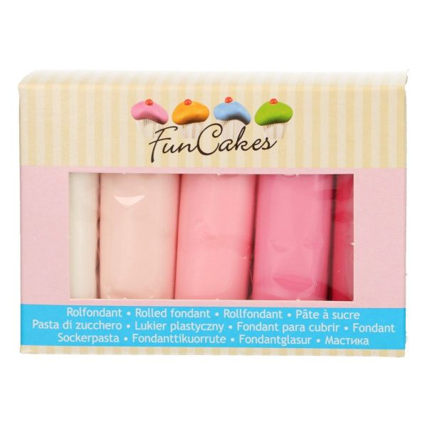 Funcakes Multipack Pink Colours
