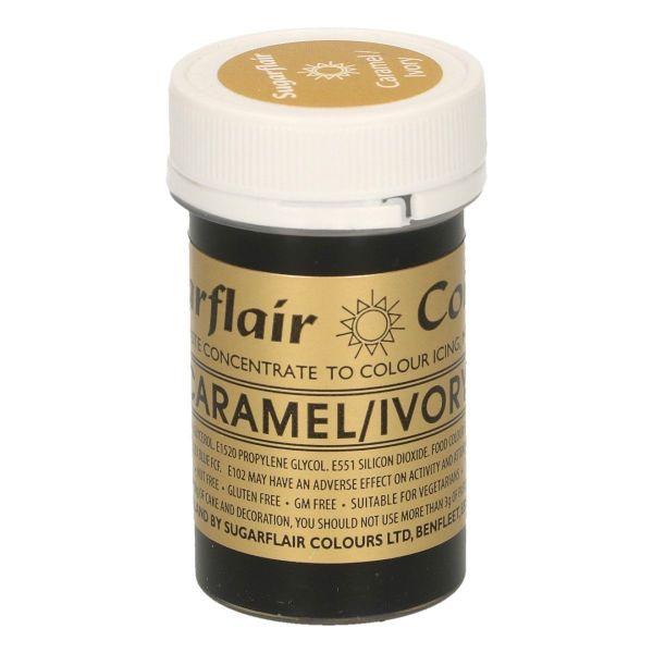 Sugarflair Pastenfarbe - Caramel/Ivory