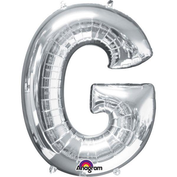 Buchstabe Silber - G Folienballon 63 X 81 cm