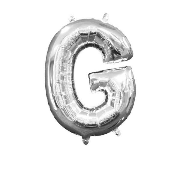 Mini Buchstabe Silber - G Folienballon 22 X 33 cm
