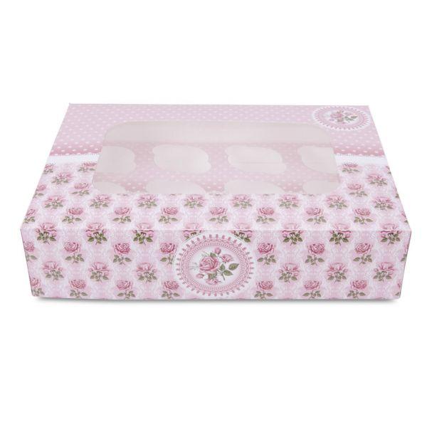 Muffinbox Rosen 12-er