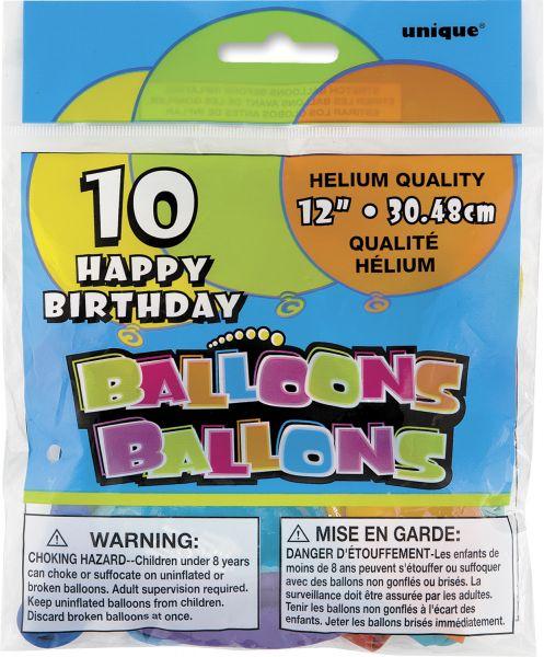 Happy Birthday Ballons 30 cm/8