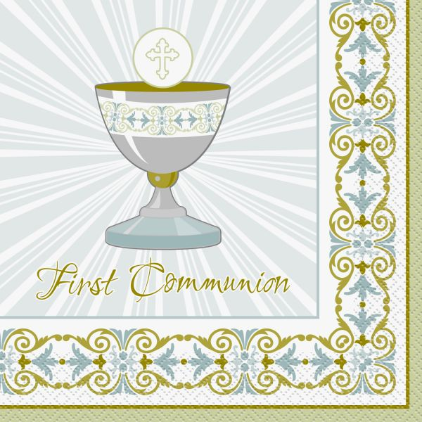 Kreuz Servietten Communion
