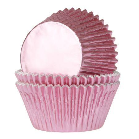 HOM Muffin Förmchen Folie Rosa