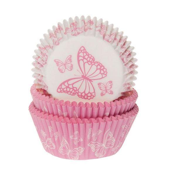 HOM Muffin Förmchen Butterfly pink