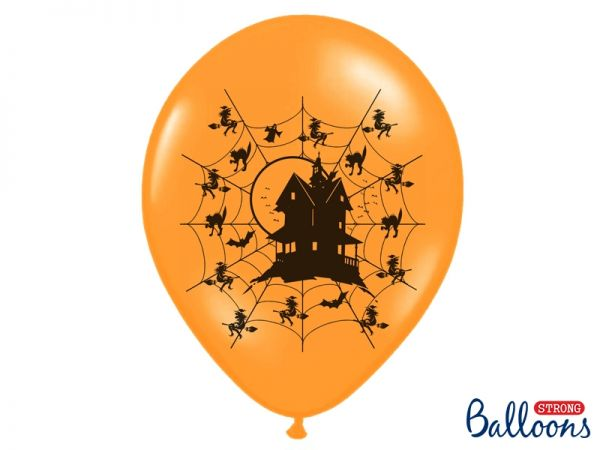 Ballons Haunted House Pastel Orange