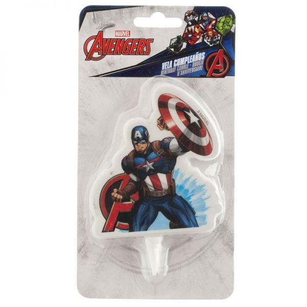 Captain Amerika Kerze 7,5 cm