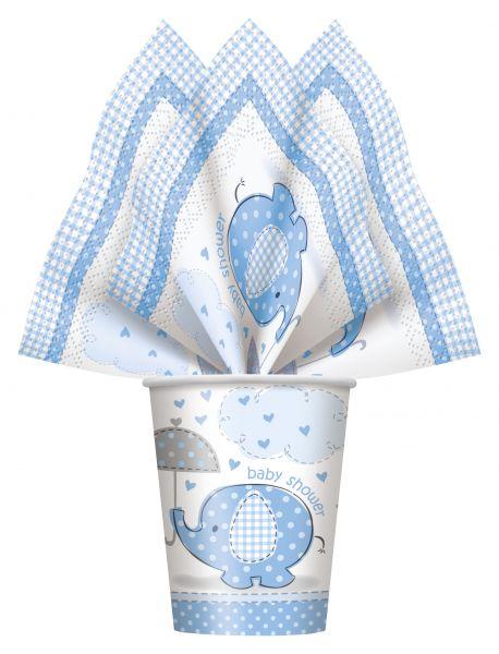 Umbrellaphants Blue Servietten