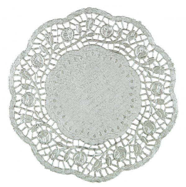 Tortenspitze Silber 21 cm/30 Stk.