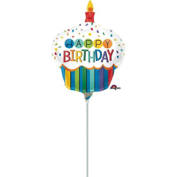 Birthday Cupcake Mini-Folienballon