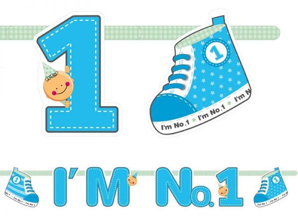 Banner I'm No.1 - 110 cm Blau