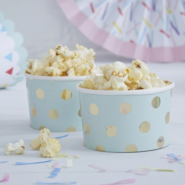 Gold Foiled Polka Dot Treat Tubs - Pick And Mix