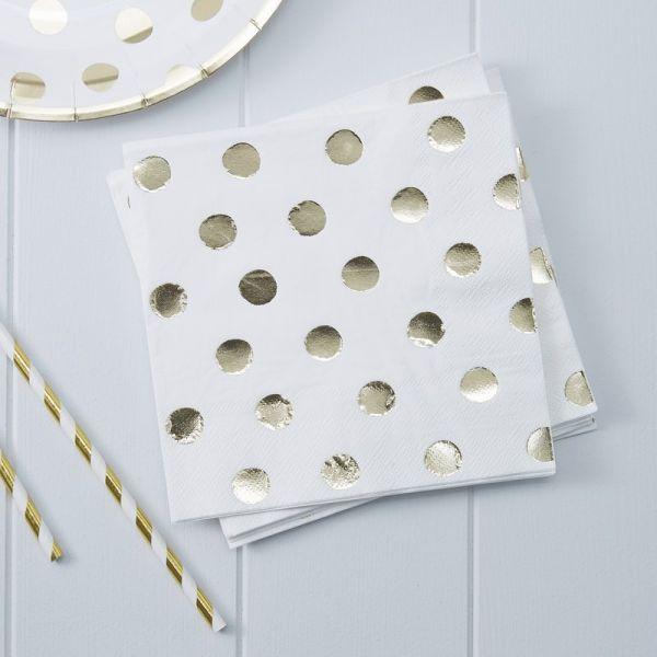 Gold Foiled Dots Serviett Pick And Mix