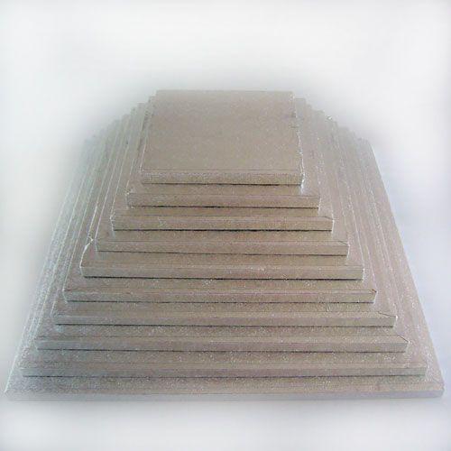 Cake Drum-Silber-Quadratisch 25 X 25 cm