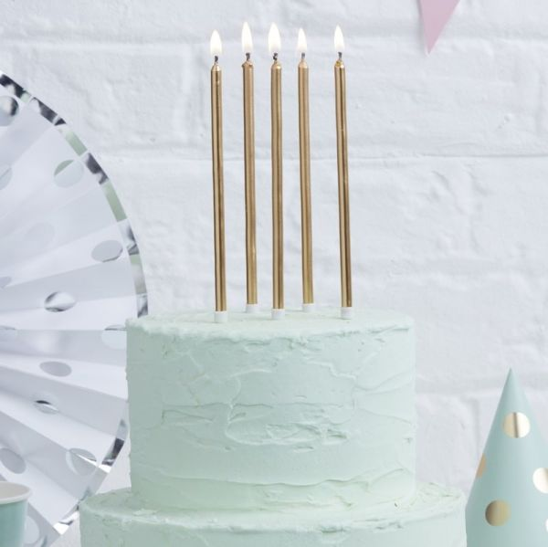 Gold Tall Candles Pick And Mix