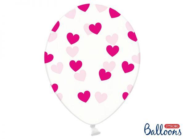 Ballon Herzen Fuchsia/6