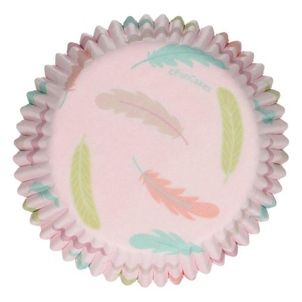 FC Muffin Förmchen Federn Pastell