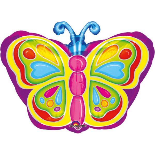 Strahlender Schmetterling Folienballon 45 cm