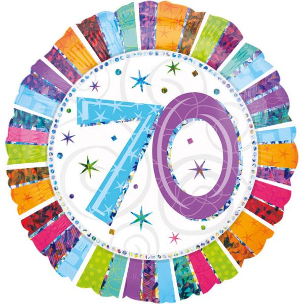 Radiant Birthday 70 Folienballon 43 cm
