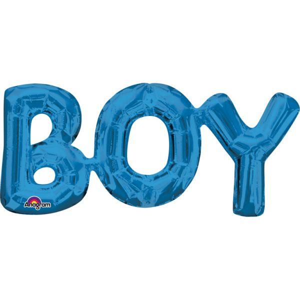 Boy Blue Schriftzug Folienballon 50 X 22 cm