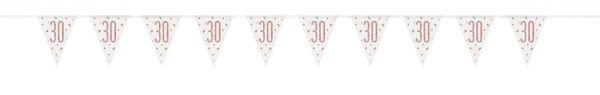 Birthday Glitz Rosegold Wimpelkette 30