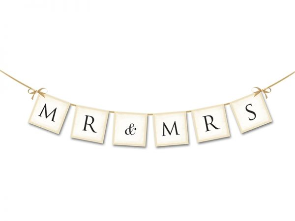Banner Mr & Mrs 77 cm