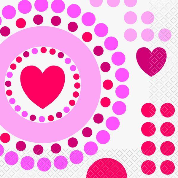 Radiant Hearts Servietten