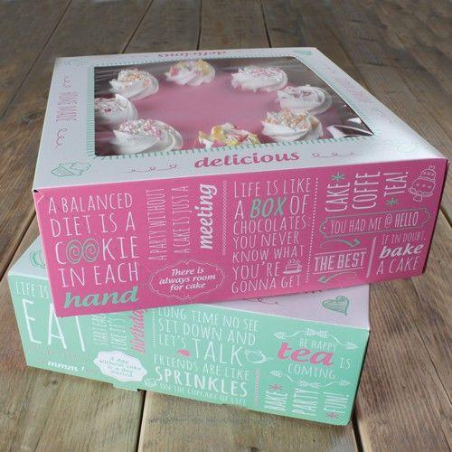 Tortenbox 21 X 21 X 9 cm Quotes Design/2