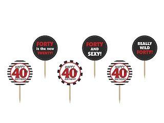 Cupcake Topper 40 - 6 Stk.