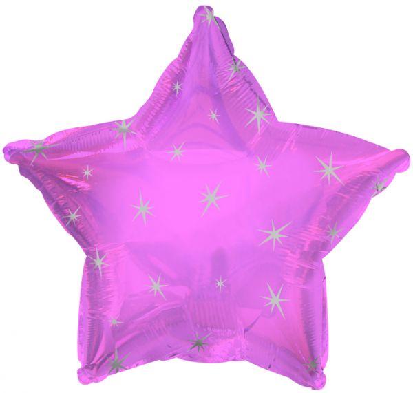 Pink Sparkle Star Folienballon 43 Cm