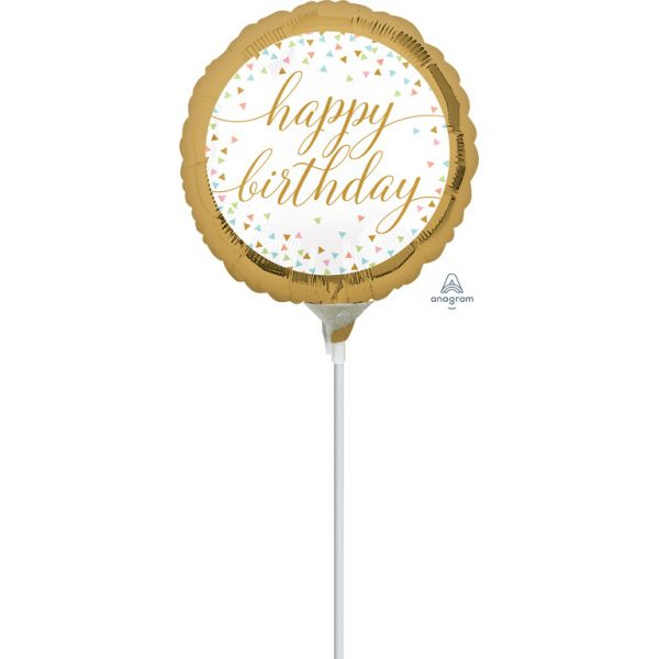 Birthday Confetti Mini-Folienballon