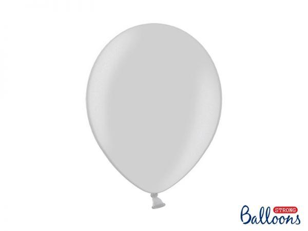 Ballon Metallic Silver Snow