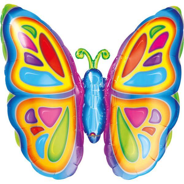 Strahlender Schmetterling Folienballon 63 X 63 cm