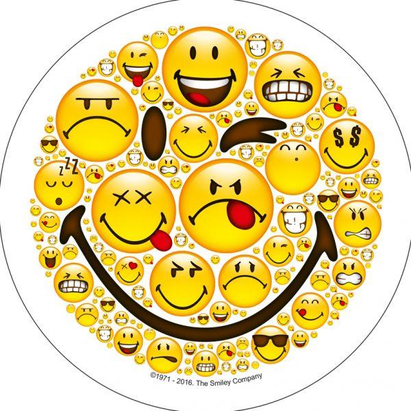 Oblatenaufleger Smiley Mod.3