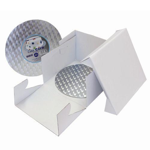 PME Cake Box & Cake Board rund 3 mm - 22,5x22,5x15 cm