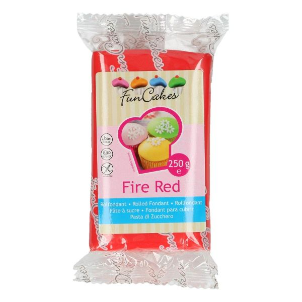Rollfondant Fire Red 250 g