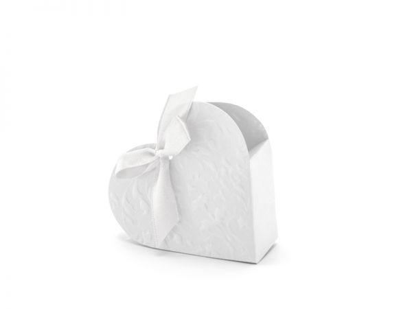Boxes Heart White 10 x 9 x 3 cm/10