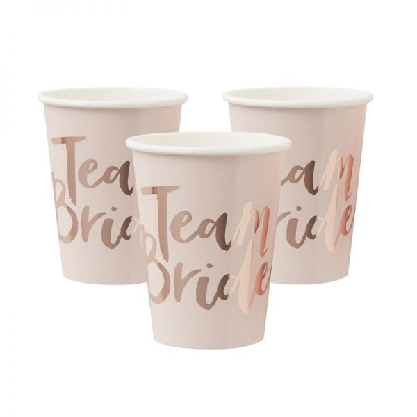 Rose Gold Foiled Cups Team Bride
