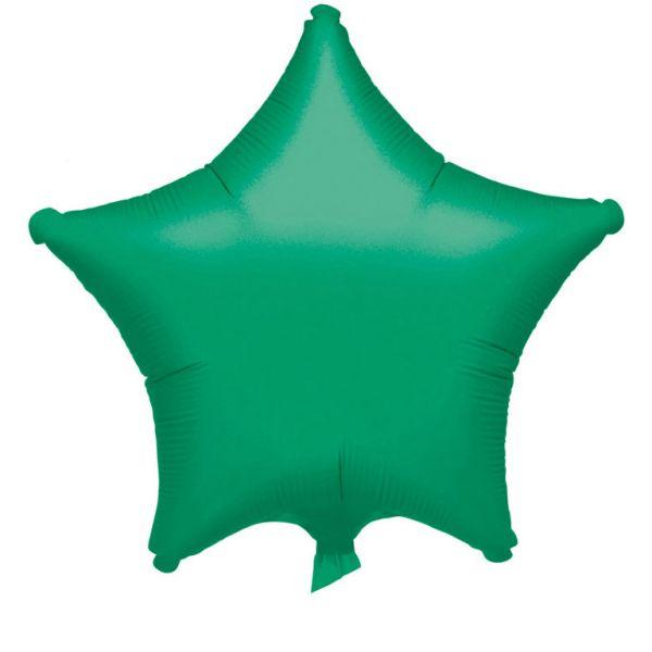 Stern Grün Metallic Folienballon 43 cm