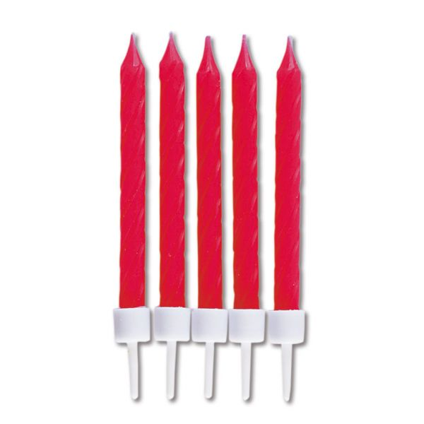 10 Kerzen - rot