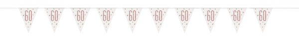Birthday Glitz Rosegold Wimpelkette 60